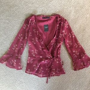 NWT Abercrombie and Fitch Wrap Top XXS